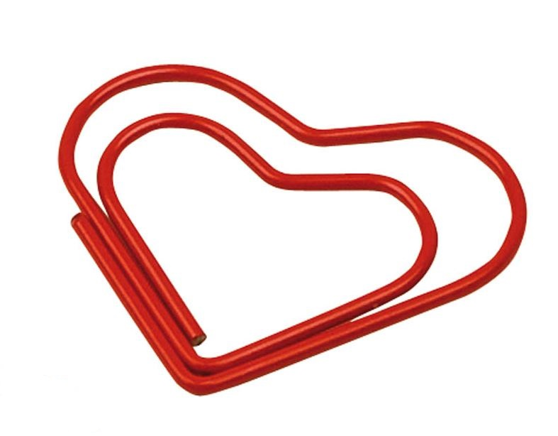 Paperclip hart