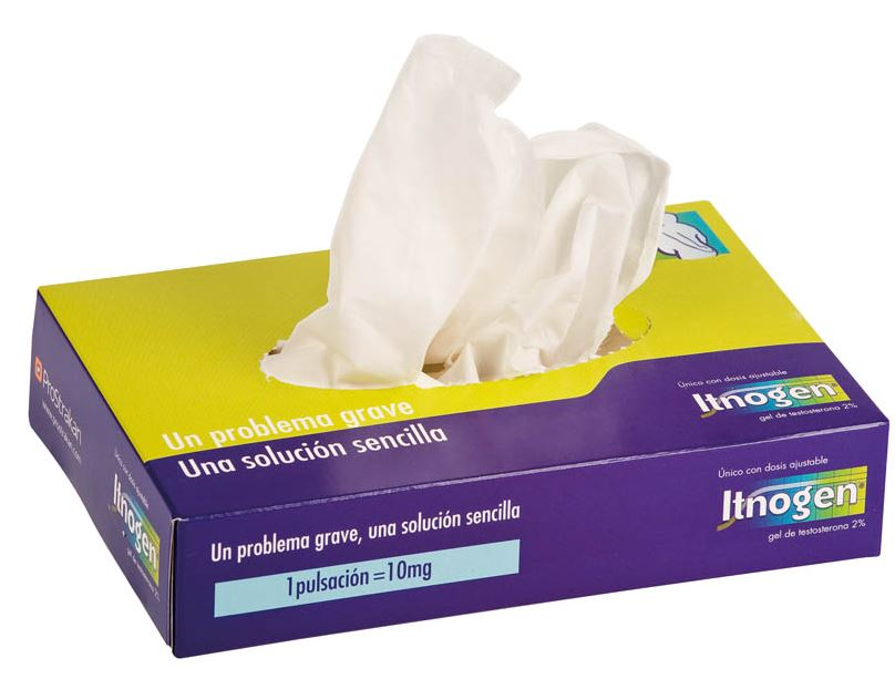 Kartonnen tissue box met 50 tissues